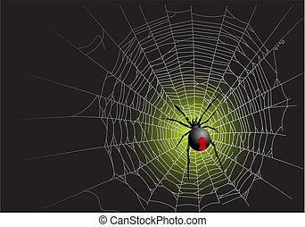 Spider web - Halloween spider web background. Vector...