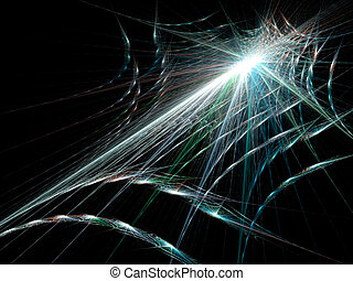 Spider Web - Halloween spider web on black background.