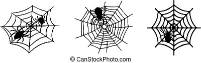 spider web icon isolated on white background