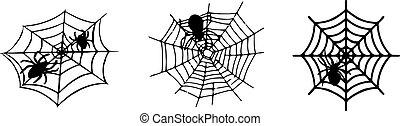 spider web icon isolated on white background