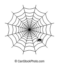 Spider web icon isolated on white background. Vector illustration