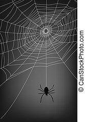 spider web illustration, for background.