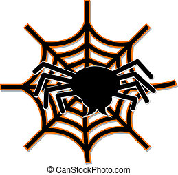 Spider Web - Illustration of a spider and a spiderweb