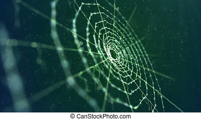 """""""Spider Web in the Green Background"""" - """"An enigmatic 3d..."""