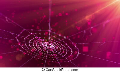 """""""Spider Web in the Purple Background"""" - """"An unusual 3d..."""