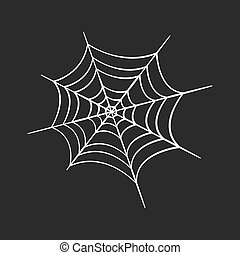 Spider web in trendy flat style isolated. Stock Vector illustration.