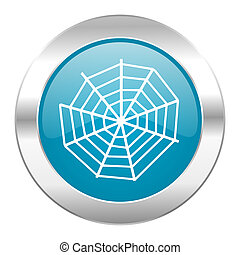 spider web internet blue icon