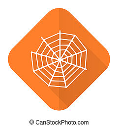spider web orange flat icon