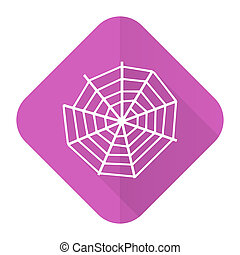 spider web pink flat icon