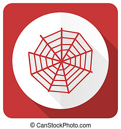 spider web red flat icon