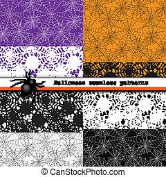 Spider web seamless patterns