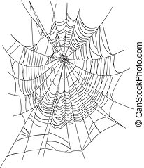 Spider Web - Spiderweb isolated on white background. ...