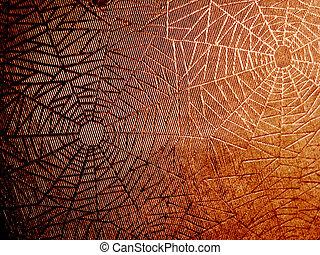 spider web - abstract orange spider background