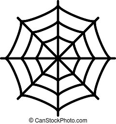 Spider web vector icon