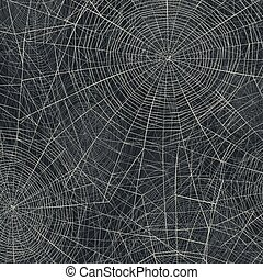 Spider web vector illustration. Abstract Halloween background.