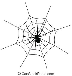 Spider6 - The spider weighs on a web. A vector illustration