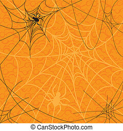 spiders and web for Halloween