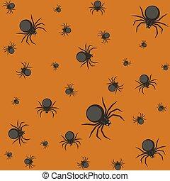 spiders., modèle, halloween