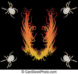 spiders&fire