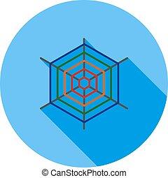 Spiderweb - Spider, insect, trap icon vector image. Can also...