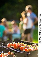 spiedi, cuocere, barbecue