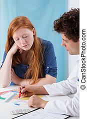 spiegando, pianificazione, naturale, famiglia, ginecologo