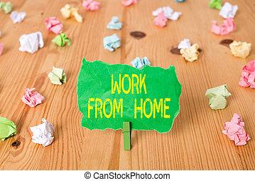 spiegazzato, parola, flexibly, promemoria, pavimento, affari, legno, lavoro, mainly, colorato, clothespin., comunicare, vuoto, scrittura, home., casa, ditta, fondo, testo, carte, concetto