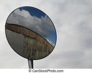 spiegel, in, der, himmelsgewölbe
