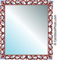 rahmen edelstein spiegel edelsteine rahmen gemacht spiegel. Black Bedroom Furniture Sets. Home Design Ideas