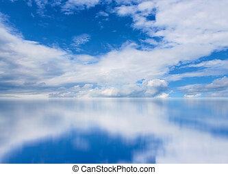 spiegel, wolkengebilde