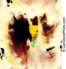 spiel, color-, abstrakt, zusammensetzung