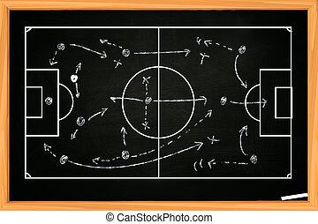 spiel, fußball, oder, fußball, strategie