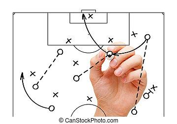 spiel, trainer, fußball, strategie