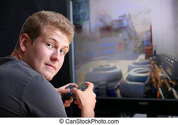 spiel, video, spielende