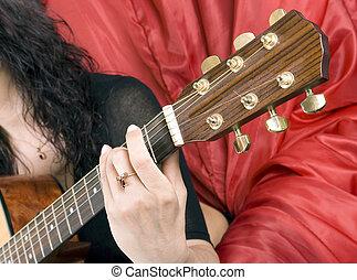 spiele, a, gitarre