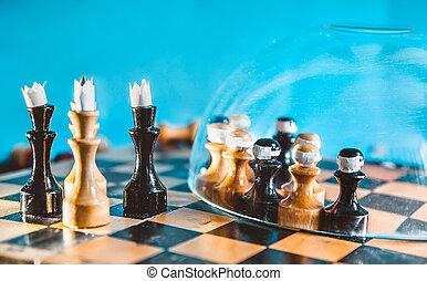 spiele, politisch, schachbrett