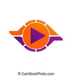spielen, geschlungen, unendlichkeit, abstrakt, logotype, template., vektor, design, unendlich, logo, kreis, concept., schleife, ikone