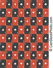 spielen karte, seamless, muster
