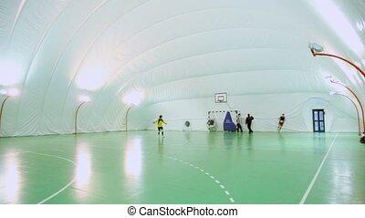 spielen, maenner, fußball, vier, feld, fußball