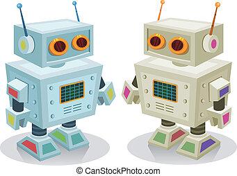 spielen roboter, kinder