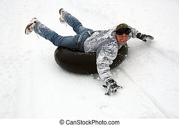 spielen, schnee