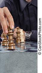 spielenden schach, geschäftsmann