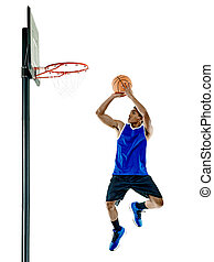 spieler, basketball, mann, freigestellt