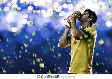 spieler, fußball, brasilianisch