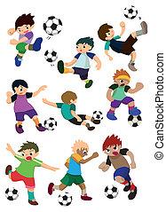 spieler, fußball, karikatur