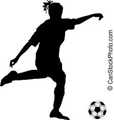 Spieler Fussball Silhouette Weibliche Abbildung