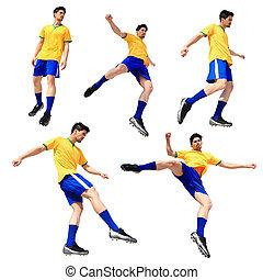 spieler, fußballfootball, mann