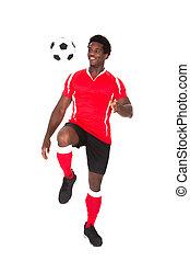 spieler, fußballfootball, treten