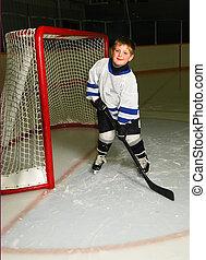 spieler, junger, hockey