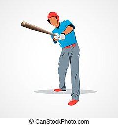spieler, kugel, baseball